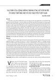 Vai trò của cộng đồng trong ứng xử với nước ở châu thổ Bắc Bộ và Tây Nguyên Việt Nam