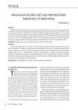 Ngoại giao văn hóa Việt Nam thời hội nhập: Thành tựu và triển vọng