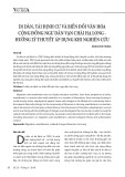 Di dân, tái định cư và biến đổi văn hóa cộng đồng ngư dân vạn chài Hạ Long - hướng lý thuyết áp dụng khi nghiên cứu
