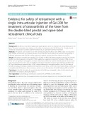 Evidence for safety of retreatment with a single intra-articular injection of Gel-200 for treatment of osteoarthritis of the knee from the double-blind pivotal and open-label retreatment clinical trials