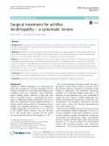 Surgical treatment for achilles tendinopathy – a systematic review