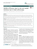 Validity of flounce sign to rule out medial meniscus tear in knee arthroscopy