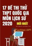 17 đề thi thử THPT Quốc gia môn Lịch sử 2020