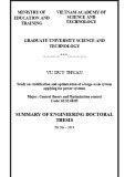 Summary of Engineering doctoral thesis: Study on stabilization and optimization of a large-scale system applying for power systems
