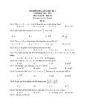 Đề kiểm tra giữa học kì 2 môn Toán lớp 10 năm 2020-2021 - Đề 3