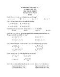 Đề kiểm tra giữa học kì 2 môn Toán lớp 10 năm 2020-2021 - Đề 8