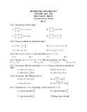 Đề kiểm tra giữa học kì 2 môn Toán lớp 10 năm 2020-2021 - Đề 7