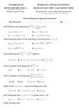 Đề kiểm tra 45 phút học kì 2 môn Toán lớp 10 năm 2019-2020  - THPT Phú Xuyên A (có đáp án)