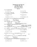 Đề kiểm tra giữa học kì 2 môn Toán lớp 10 năm 2020-2021- Đề 15