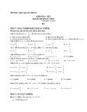 Bộ đề kiểm tra 1 tiết học kì 2 môn Toán (ĐS) lớp 9 - THCS Quang Trung (có đáp án)