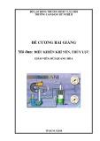 Đề cương bài giảng Mô đun: Điều khiển khí nén, thủy lực