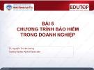 Bài giảng Quản trị kinh doanh bảo hiểm: Bài 5 - TS. Nguyễn Thị Hải Đường