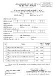 Tờ khai quyết toán thuế thu nhập cá nhân (Mẫu số 02 KK-BH)