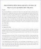 Một số điểm chính trong khuyến cáo 2016 cập nhật của Eular trong điều trị gout