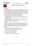 Bài giảng Lý thuyết thống kê - Bài 2: Quá trình nghiên cứu thống kê