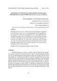 Ảnh hưởng của một số yếu tố môi trường lên khả năng sinh trưởng của callus Đinh lăng (Polyscias fruticosa (L.) Harms)