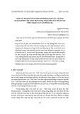 Hợp tác kinh tế giữa tỉnh Khammouane (Lào) và tỉnh Quảng Bình (Việt Nam) trong hai thập niên đầu thế kỷ XXI: Thực trạng và vấn đề đặt ra