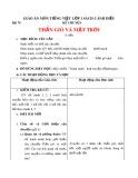 Giáo án môn Tiếng Việt lớp 1 sách Cánh Diều - Bài 74: Kể chuyện: Thần gió và mặt trời