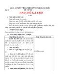Giáo án môn Tiếng Việt lớp 1 sách Cánh Diều - Bài 14: Kể chuyện: Hai chú gà con