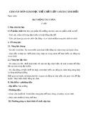 Giáo án môn Giáo dục thể chất lớp 1 sách Cánh Diều - Bài 7: Động tác chân