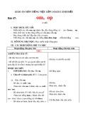 Giáo án môn Tiếng Việt lớp 1 sách Cánh Diều - Bài 47: om, op
