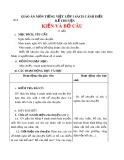 Giáo án môn Tiếng Việt lớp 1 sách Cánh Diều - Bài 26: Kể chuyện: Kiến và bồ câu