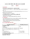 Giáo án môn Tiếng Việt lớp 1 sách Cánh Diều - Bài 1: A, C