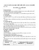 Giáo án môn Giáo dục thể chất lớp 1 sách Cánh Diều - Bài 10: Động tác phối hợp