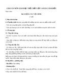 Giáo án môn Giáo dục thể chất lớp 1 sách Cánh Diều - Bài 8: Động tác vặn mình