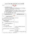 Giáo án môn Tiếng Việt lớp 1 sách Cánh Diều - Bài 37: ăm, ăp