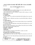Giáo án môn Giáo dục thể chất lớp 1 sách Cánh Diều - Bài 13: Tư thế vận động của tay