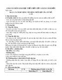 Giáo án môn Giáo dục thể chất lớp 1 sách Cánh Diều - Bài 15: Các hoạt động vận động phối hợp của cơ thể