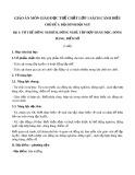 Giáo án môn Giáo dục thể chất lớp 1 sách Cánh Diều - Bài 1: Tư thế đứng nghiêm, đứng nghỉ, tập hợp hàng dọc, dóng hàng, điểm số