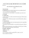 Giáo án môn Giáo dục thể chất lớp 1 sách Cánh Diều - Bài 3: Dàn hàng ngang, dồn hàng ngang