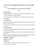 Giáo án môn Giáo dục thể chất lớp 1 sách Cánh Diều - Bài 2: Tập hợp hàng ngang, dóng hàng, điểm số