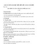 Giáo án môn Giáo dục thể chất lớp 1 sách Cánh Diều - Bài 4: Động tác quay trái, quay phải, quay sau