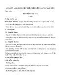Giáo án môn Giáo dục thể chất lớp 1 sách Cánh Diều - Bài 6: Động tác tay