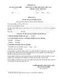 Mẫu Thông báo việc chào bán cổ phần riêng lẻ (Phụ lục II-7)