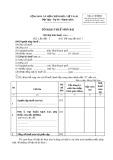 Tờ khai thuế môn bài (Mẫu số: 01/MBAI)