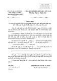 Mẫu Thông báo việc bổ sung giải trình hồ sơ (Mẫu số: 03/GHAN)
