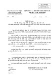 Mẫu Thông báo không chấp nhận hồ sơ gia hạn nộp tiền thuế (Mẫu số: 04/GHAN)