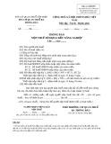 Mẫu Thông báo nộp thuế sử dụng đất nông nghiệp (Mẫu số: 04/SDNN)