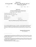 Mẫu Thông báo việc thay đổi nội dung đăng ký hộ kinh doanh (Phụ lục III-3)