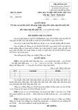Mẫu Quyết định việc xoá nợ tiền thuế (Mẫu số 05/XOANO)