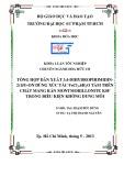 Khóa luận tốt nghiệp: Tổng hợp dẫn xuất 3,4-dihidropirimidin-2(1H)-on dùng xúc tác FeCl3.6H2O tẩm trên chất mang rắn montmorillonite KSF trong điều kiện không dung môi