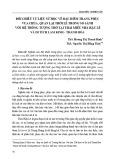 Đối chiếu tư liệu sử học về đặc điểm trang phục vua chúa, quan lại thời Lê trong so sánh với hệ thống tượng thờ tại Thái miếu nhà Hậu Lê và di tích Lam Kinh - Thanh Hóa