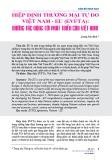 Hiệp định thương mại tự do Việt Nam - EU (EVFTA): Những tác động tới phát triển của Việt Nam