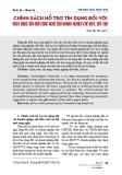 Chính sách hỗ trợ tín dụng đối với hoạt động đổi mới công nghệ của doanh nghiệp chế biến, chế tạo