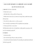 Giáo án môn Tự nhiên và xã hội lớp 1 sách Cánh Diều - Bài 8: Tết Nguyên Đán