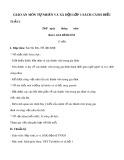 Giáo án môn Tự nhiên và xã hội lớp 1 sách Cánh Diều - Bài 1: Gia đình em